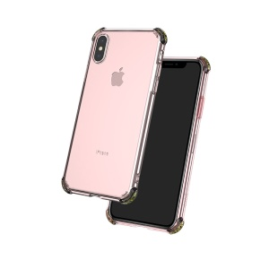 HOCO Anti-drop Airbag Soft TPU Protective Shell for iPhone XS / X 5.8 inch - Pink