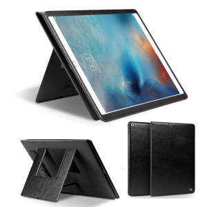 QIALINO Smart Genuine Leather Case Stand for iPad Pro 12.9 inch - Black