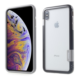 PC + TPU Frame Case with Assorted Color Edge for iPhone XS Max 6.5 inch - Black