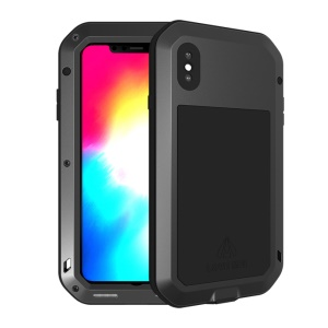 LOVE MEI for iPhone XS Max 6.5 inch Shockproof Dust-proof Defender Mobile Shell - Black