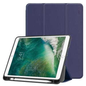 ENKAY PU Leather Smart Tablet Cover Case with Tri-fold Stand for iPad 9.7-inch (2018)/9.7-inch (2017)/Air 2/Air - Dark Blue