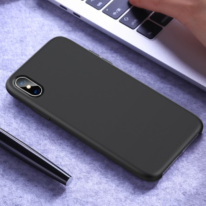 JOYROOM Lyber Series Liquid Silicone PC Hybrid [Soft Microfiber Lining] Protection Case for iPhone XS Max 6.5 inch - Black