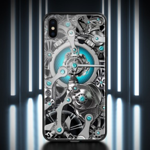 NILLKIN Spacetime Case for iPhone XS Max 6.5 inch PC TPU Tempered Glass Hybrid Case