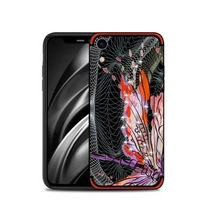 NXE Dragonfly Pattern Rhinestone Decor TPU Phone Case for iPhone XR 6.1 inch - Red