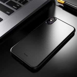 BENKS Magic Lollipop 0.4mm Ultra-thin Matte PP Case for iPhone XS Max 6.5 inch - All Black