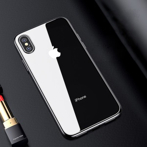 BENKS Electroplating [Soft TPU] Back Protection Mobile Case for iPhone XS Max 6.5 inch - Silver