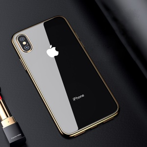 BENKS for iPhone XS Max 6.5 inch Case [Electroplated] Soft TPU Back Phone Cover Accessory - Gold