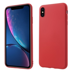 All Wrapped Back and Edges Liquid Silicone Case for iPhone XS Max 6.5 inch - Red