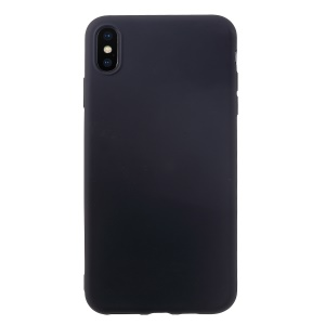 All Wrapped Back and Edges Liquid Silicone Cover for iPhone XS Max 6.5 inch - Black