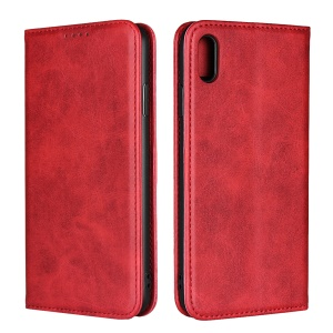 Magnetic Stand Leather Wallet Accessory Case for iPhone XS Max 6.5 inch - Red