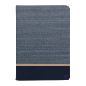 Two-color Linen Texture Leather Smart Case for iPad Air 2 - Dark Grey
