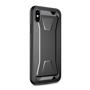 IPAKY Phantom Rhombus Series Drop Protection TPU Phone Case for iPhone XS Max 6.5 inch - Black