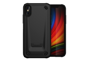 PC + TPU Hybrid Case for iPhone XS/X 5.8-inch - Black