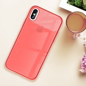 X-LEVEL Soft TPU Cover Rainbow Series Cellphone Case for iPhone XS/X 5.8 inch - Red