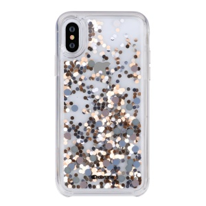 COMMA Dynamic Sequins Quicksand PC Hard Case for iPhone XS Max 6.5 inch - Muti-color
