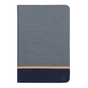 Assorted Color Linen Leather Smart Case for iPad mini 3/2/1 - Dark Grey