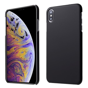 Rubberized Hard PC Casing for iPhone XS Max 6.5 inch - Black