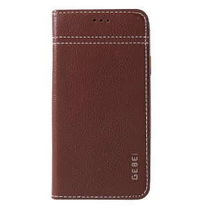 GEBEI Genuine Leather Cover with Card Slots for iPhone XR 6.1 inch - Coffee