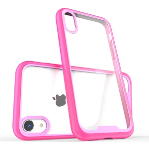 Two-color Scratch Resistant Acrylic TPU PC Hybrid Cover Case for iPhone XR 6.1 inch - Rose