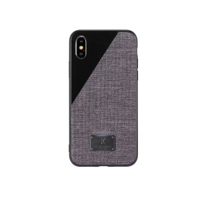 WK Mings Series Case for iPhone XS Max 6.5 inch TPU + PC + Cloth Hybrid Case - Black