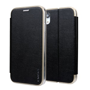 CMAI2 Leather Stand Case with Card Slot for iPhone XR 6.1 inch - Black