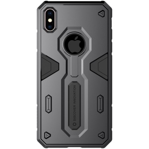 NILLKIN Defender II Case for iPhone XS Max 6.5 inch Strong PC TPU Combo Back Cover - Black
