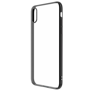 DEVIA Glimmer Series Electroplating TPU PC Hybrid Cover for iPhone XS Max 6.5 inch (Updated Version) - Black