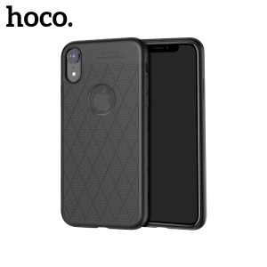 HOCO Admire Series [Hollow Holes] Mobile Cover for iPhone XR 6.1 inch 0.8mm Soft Matte TPU Case - Black