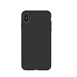 DEVIA Nature Series Silicone Hybrid Case Ultra-thin Shock-proof Back Case for iPhone XS Max 6.5 inch - Black