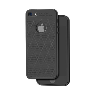 HOCO Admire Series 0.8mm Soft Matte TPU Back Case for iPhone SE/5s/5 - Black