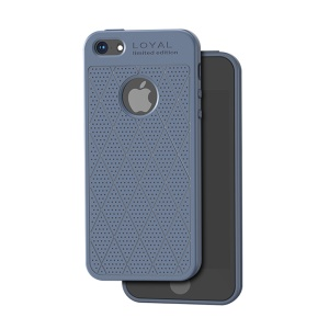 HOCO Admire Series 0.8mm Soft Matte TPU Shell for iPhone SE/5s/5 - Blue