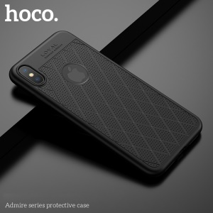 HOCO Admire Series [Hollow Holes] 0.8mm Matte TPU Case for iPhone XS Max 6.5 inch - Black