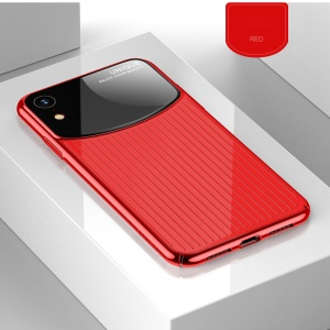 USAMS MJ Series PC + Acrylic Mirror Surface Combo Back Shell for iPhone XR 6.1 inch - Red