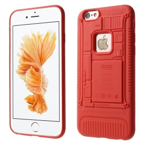 3D Mobile Mainboard Patten Soft TPU Case for iPhone 6s/6 - Red