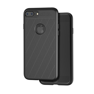 HOCO Admire Series [Hollow Holes] 0.8mm Matte TPU Case for iPhone 8 Plus 5.5 inch - Black