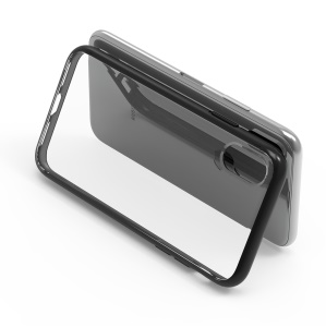Anti-dust Shockproof Plastic Cellphone Case for iPhone XS Max 6.5 inch - Black