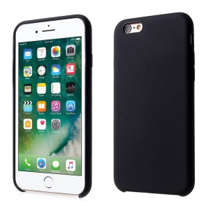 For iPhone 6s / 6 4.7 inch Silky Solid Silicone Protection Phone Case - Black