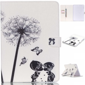 Für iPad Air Wallet Leder Flip Case - Little Boy und Girl Dandelion Schmetterling