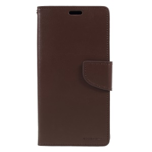 MERCURY GOOSPERY Bravo Diary PU Leather Protection Cell Phone Casing for iPhone XS Max 6.5 inch - Coffee