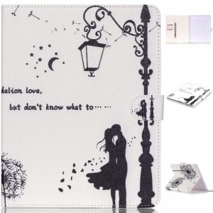 Leather Magnetic Flip Cover for iPad 4/3/2 - Lovers under Street Light