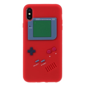 3D Game Boy Soft Silicone Mobile Case for iPhone XS Max 6.5 inch - Red