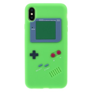 3D Game Boy Soft Silicone Cell Phone Cover for iPhone XS Max 6.5 inch - Green