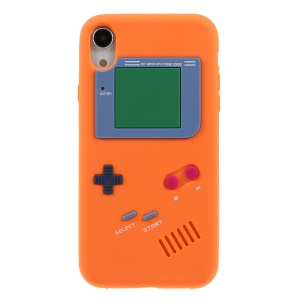 3D Game Boy Soft Silicone Cell Phone Case for iPhone XR 6.1 inch - Orange