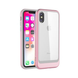 Abnehmbares Transparentes PC TPU Bewegliches Gehäuse Für Iphone XS 5.8-Zoll - Roségold