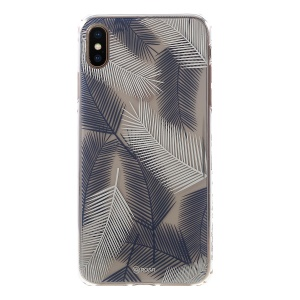 ROAR KOREA Strong Gel Case IMD Patterned PC TPU Hybrid Cover for iPhone XS / X 5.8 inch - Blue / White