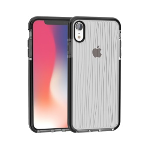 [Water Ripple] Anti-slip Soft TPU Case for iPhone XR 6.1 inch - Grey / Black