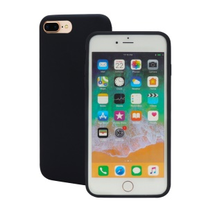 Wrapped Edge Soft Silicone Case for iPhone 8 Plus / 7 Plus - Black