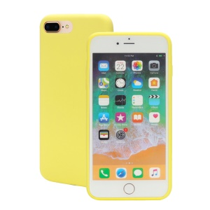 Wrapped Edge Soft Silicone Protection Case for iPhone 8 Plus / 7 Plus - Yellow