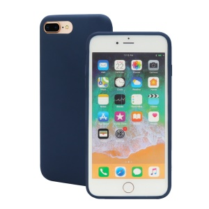 Wrapped Edge Soft Silicone Cover Shell Case for iPhone 8 Plus / 7 Plus - Dark Blue