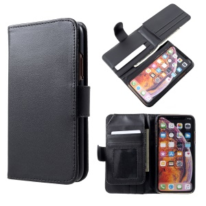 For iPhone XS 5.8 inch PU Leather Case with Multiple Card Slots - Black